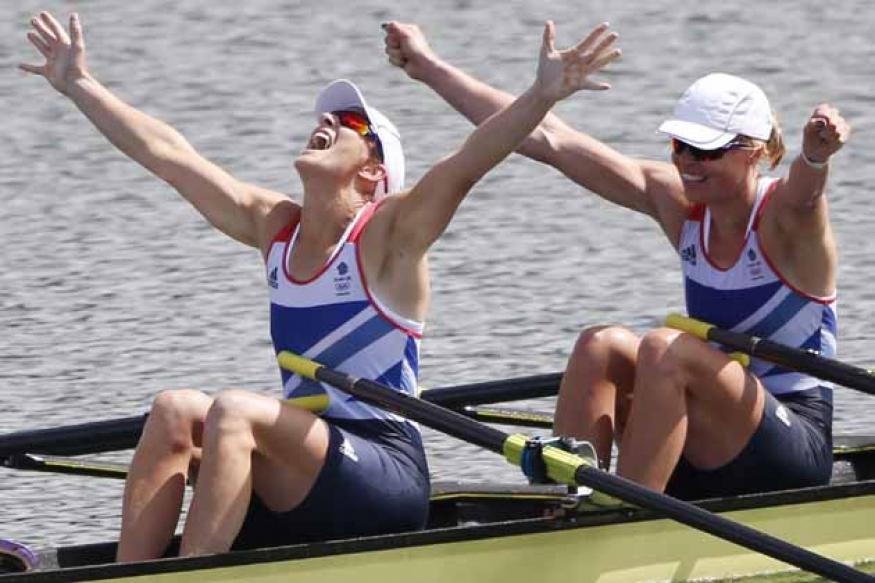 Britain win gold in women's double sculls