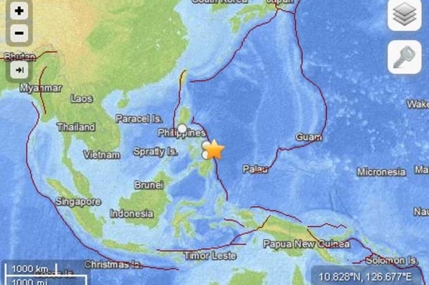 Philippines quake spurs small tsunami, 1 dead