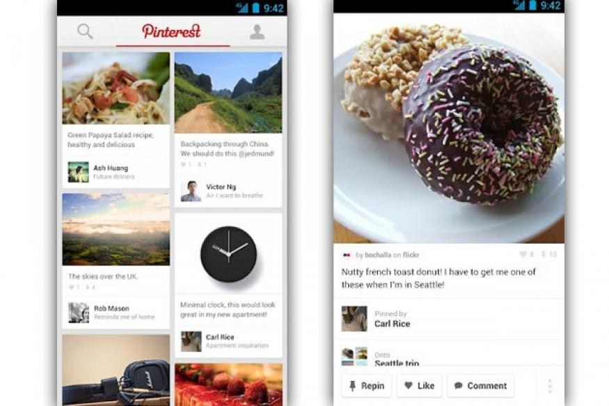 Pinterest unveils Android, iPad apps