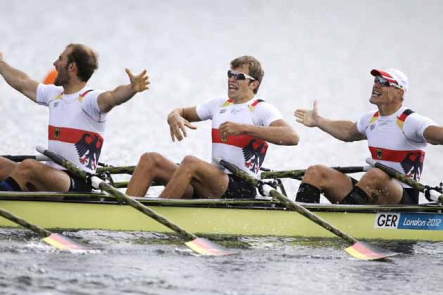 Germany wins Olympic gold in men's quad sculls