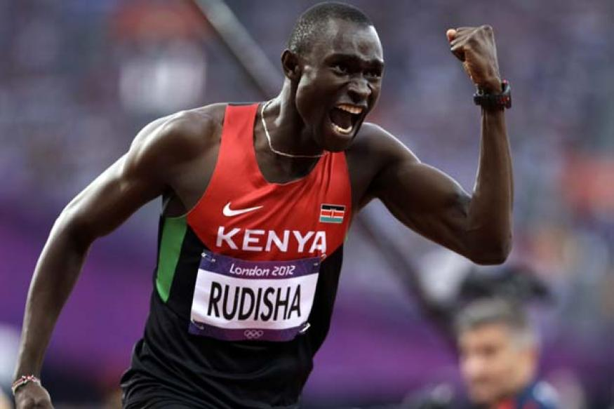 Kenya's Rudisha wins 800m in world record time