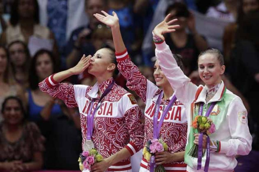 Clean sweep for Russia in rhythmic gymnastics