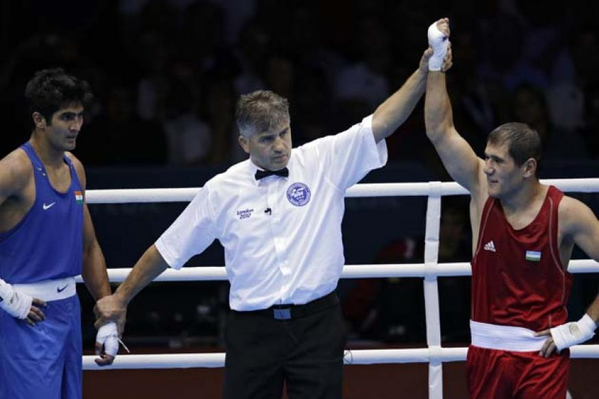 Vijender Singh crashes out of Olympic boxing