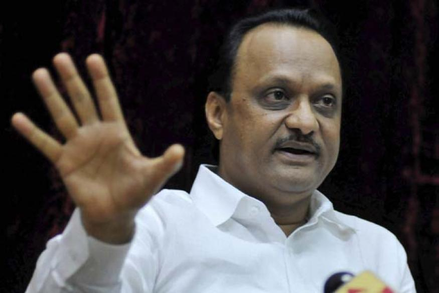 Ajit Pawar takes on Congress at public rally