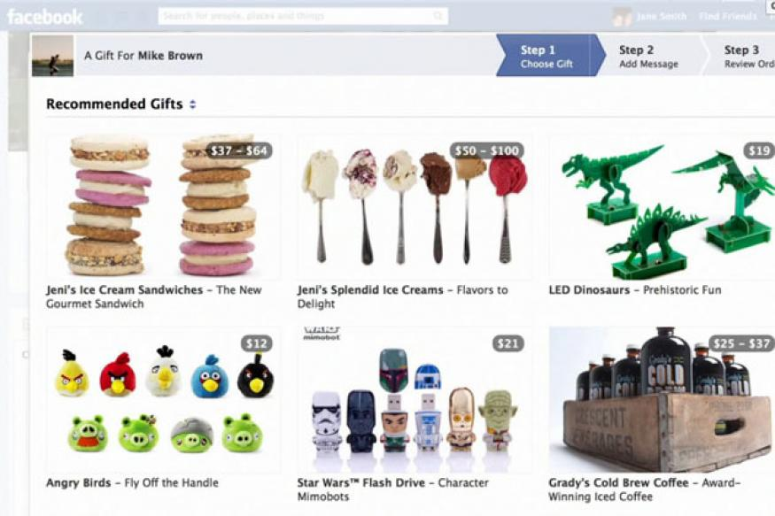 Facebook rolls out Gifts service to send real-life gifts