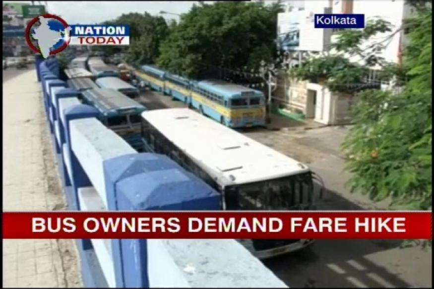 WB: Private bus unions on strike, demand fare hike