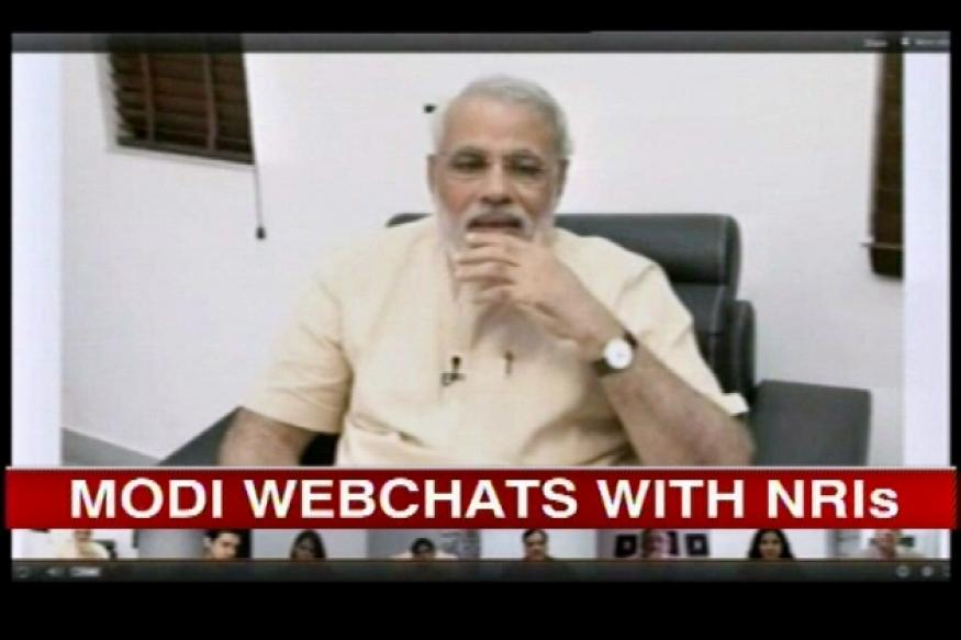 After Hangout success, Modi live chats with NRIs