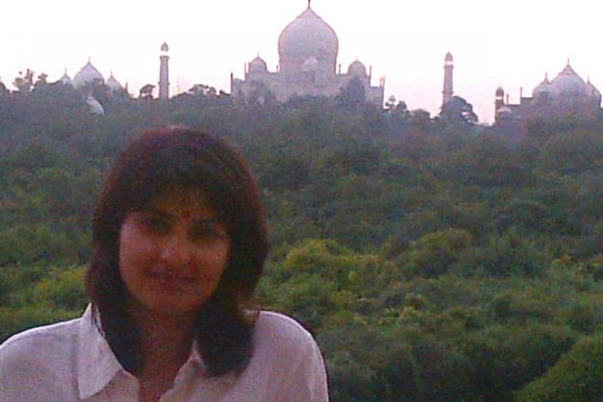 Prakash Raj with his family at Taj Mahal