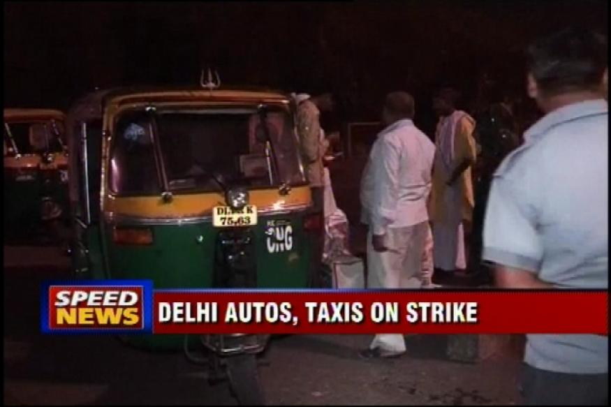 Delhi: Autorickshaw, taxi unions on strike