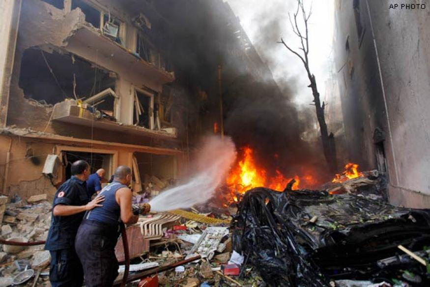 At least two killed in car bomb blast in Beirut