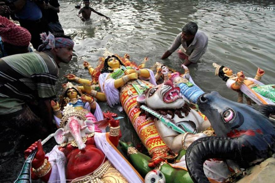 Durga Puja ends in West Bengal with idol immersion