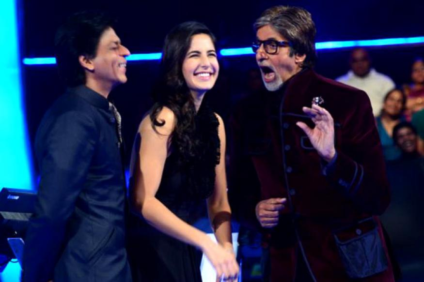 SRK, Katrina and Big B try the Gangnam style on KBC