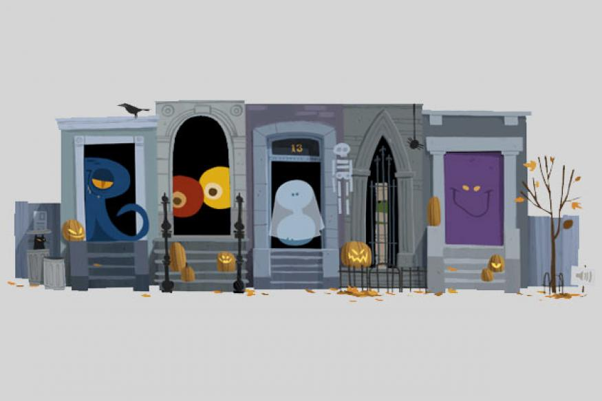 Google wishes Happy Halloween! with a doodle