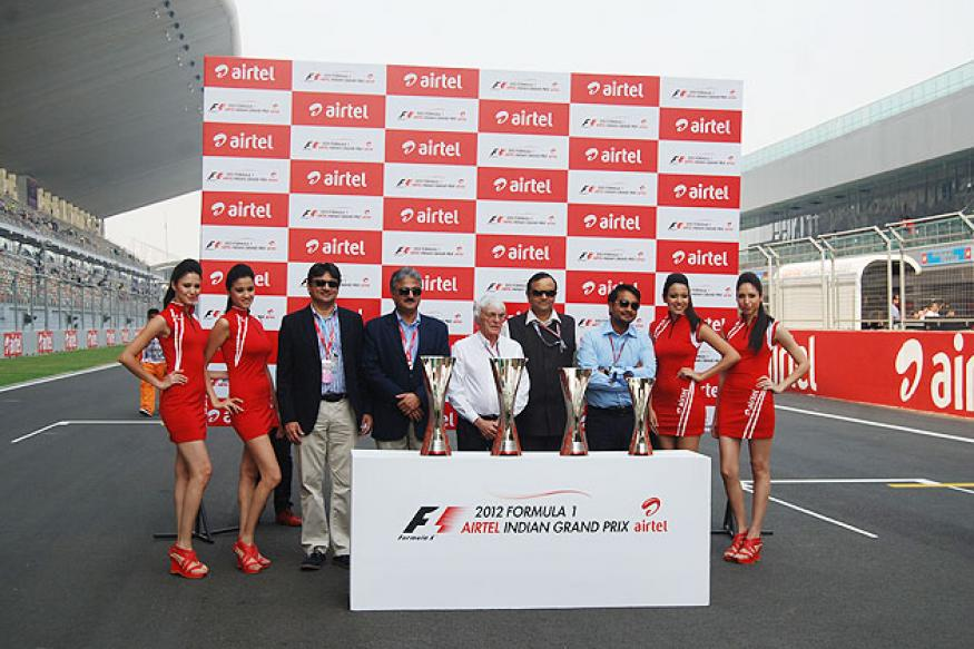 Formula One Indian Grand Prix trophy unveiled