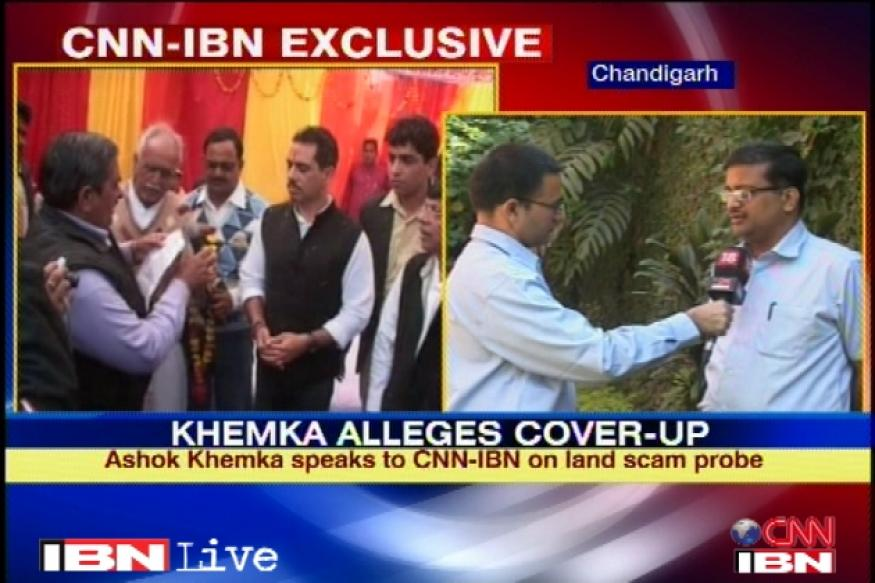 Someone wants to cover up for Vadra: Khemka