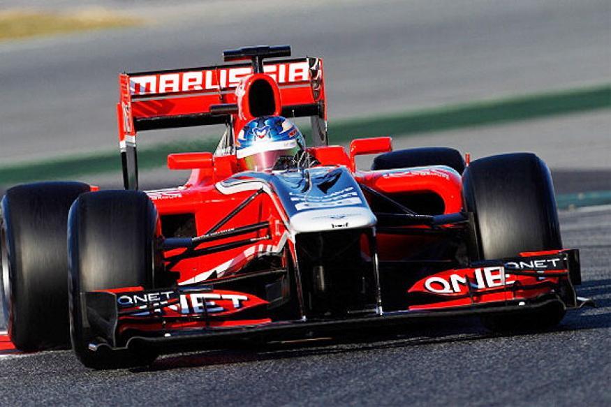 Marussia hand Chilton Abu Dhabi practice chance