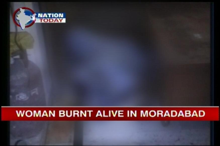 UP: Woman burnt alive after LPG leak causes fire