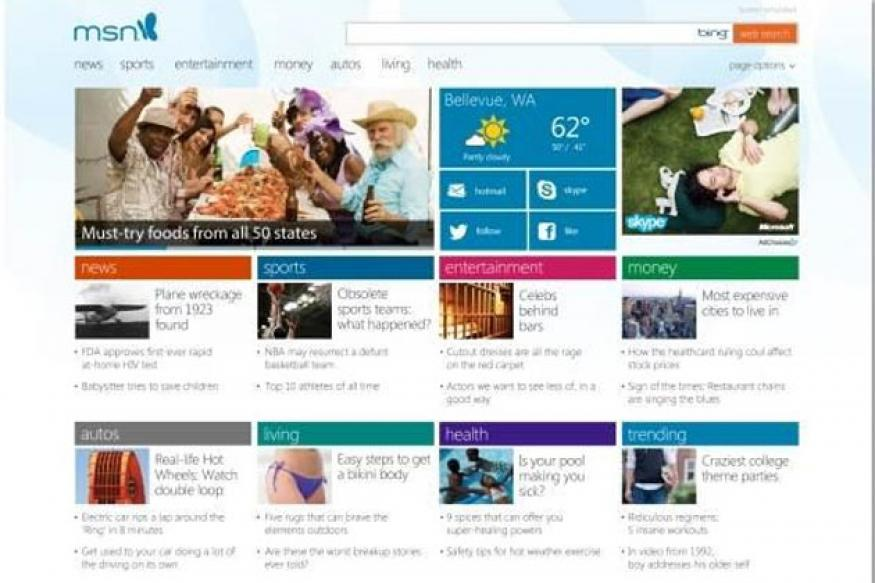 Microsoft introduces new MSN for Windows 8
