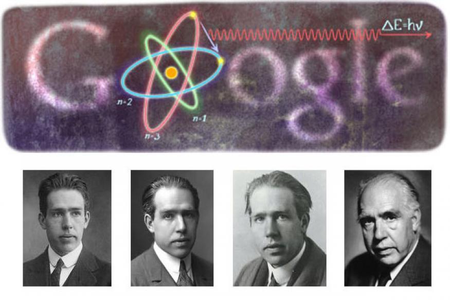 Google doodles physicist Niels Bohr's 127th birthday