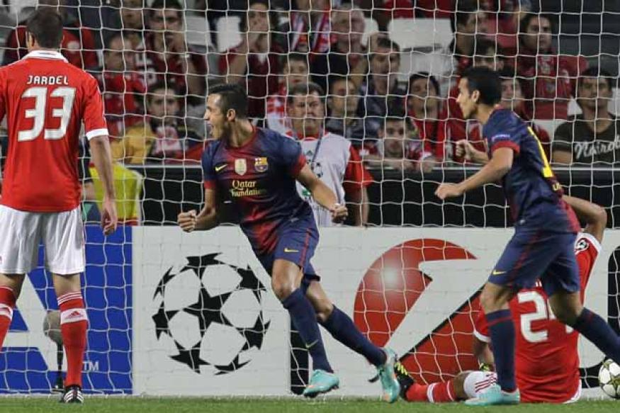 Champions League: Messi sets up 2-0 Barcelona win over Benfica