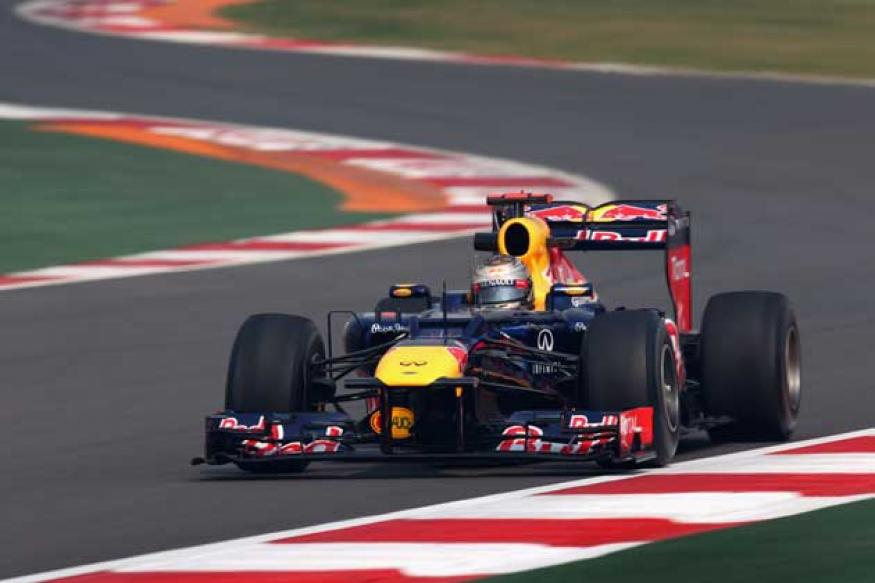 Vettel fastest in first practice in Indian GP