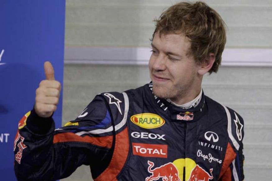Vettel takes pole in Indian Grand Prix 2012