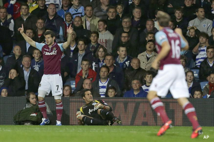 West Ham hold on to beat QPR 2-1 in EPL