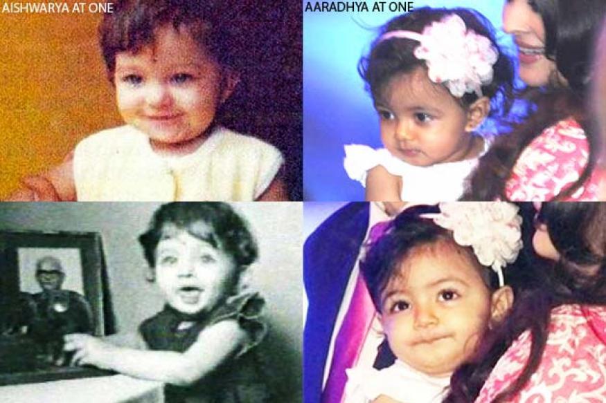 Pic: Aaradhya & Aishwarya at one; splitting image