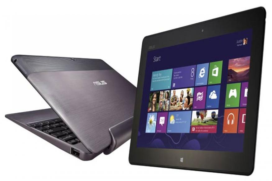 Asus launches Windows 8 dual screen ultrabook, tablet, notebooks