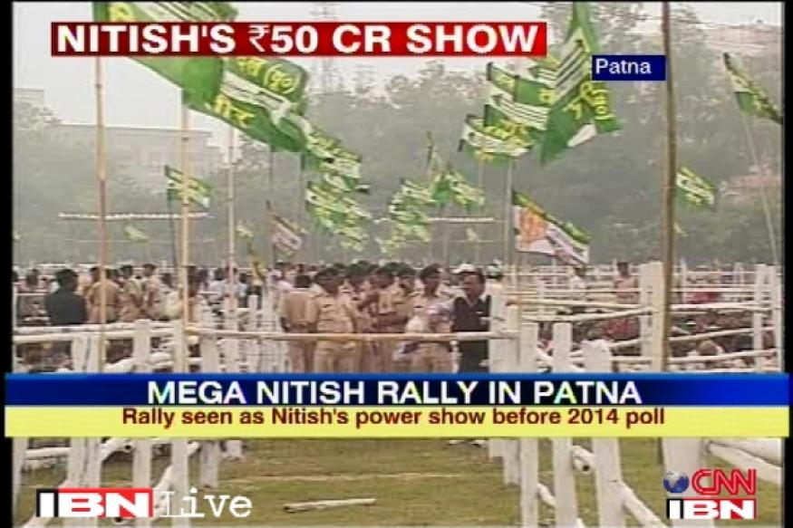 Opposition describes Nitish rally as 'flop show'