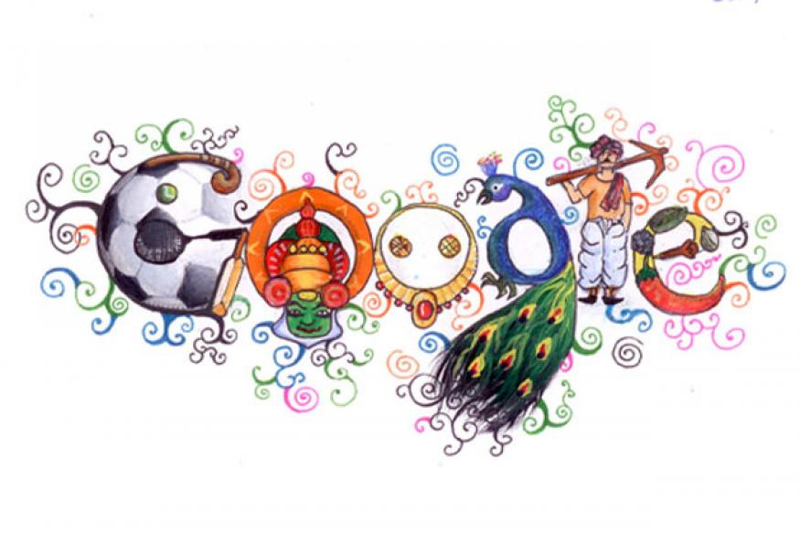 Doodle 4 Google winner on Google India home page