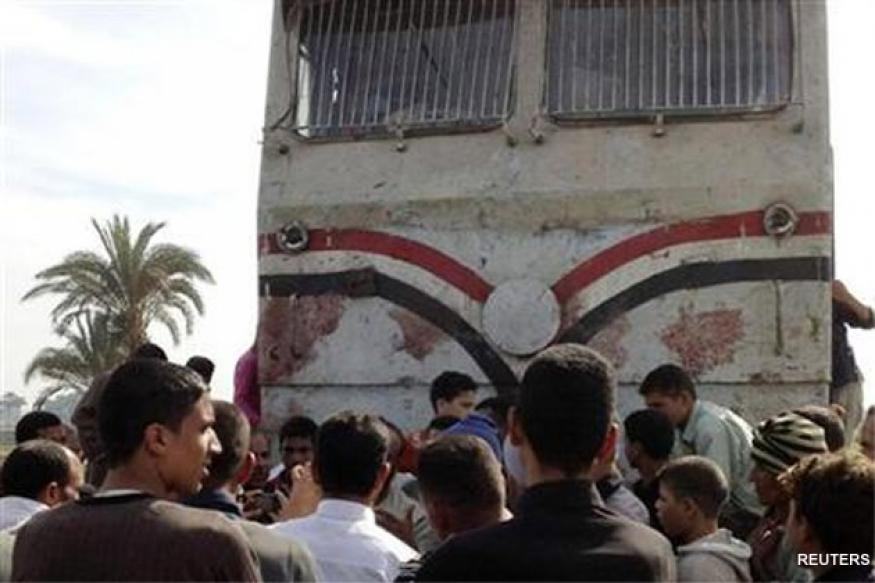 Train ploughs into school bus in Egypt, 50 killed