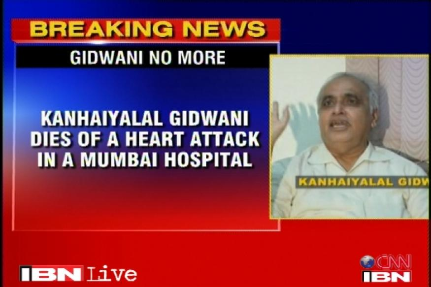 Adarsh accused Kanhaiyalal Gidwani dies of heart attack
