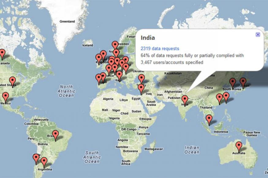 India 2nd on the snoopy countries list: Google
