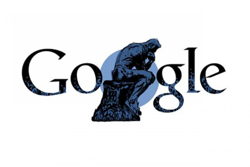 Google doodles Auguste Rodin's 172nd birthday
