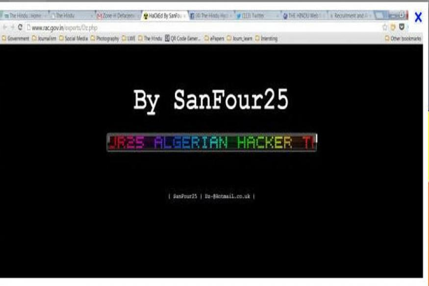 DRDO, 5 other key government websites hacked