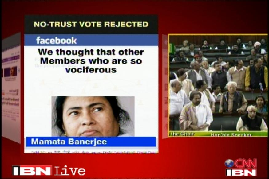 Mamata posts on Facebook 'UPA saviours exposed'