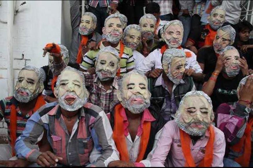 Gujarat polls: BJP finds new Modi masks scary