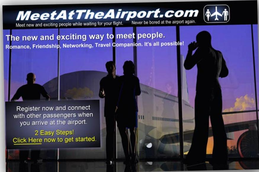 Flying alone? Now, a website for 'airport dating'