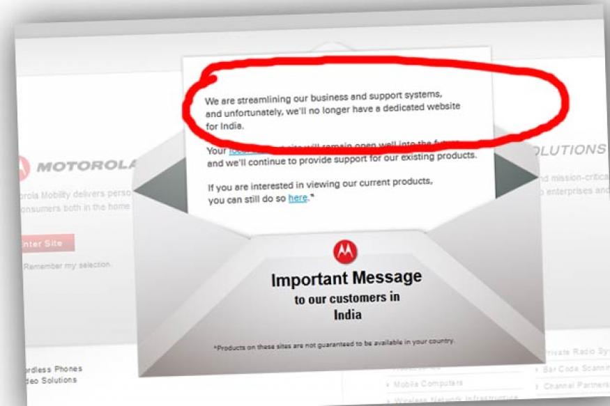 Motorola Mobility officially shuts down its Indian website