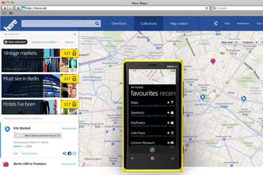 Nokia launches cross-platform mapping service 'Here'