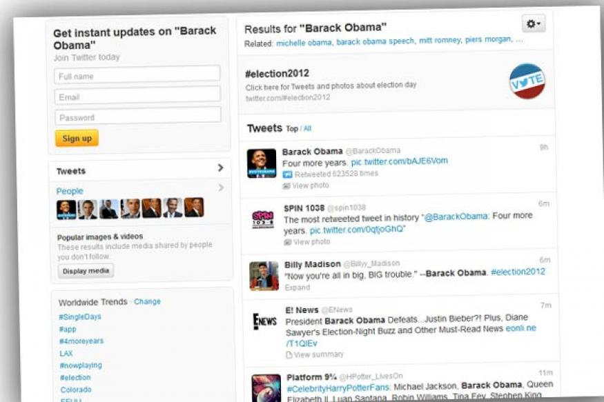 Record 32 million tweets on US Election Day