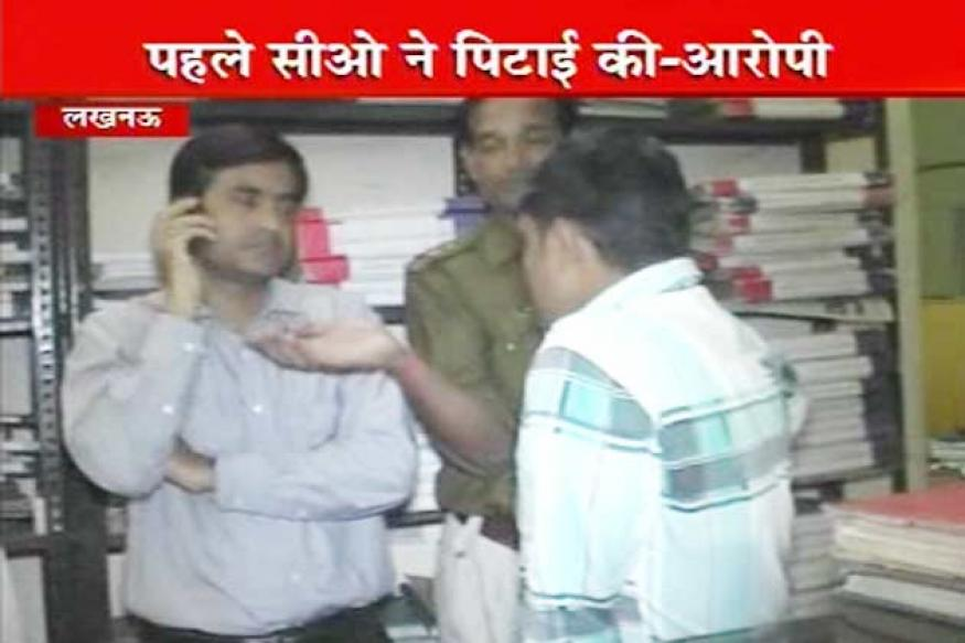 UP CM Akhilesh's security officer beaten up