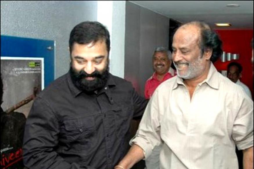 Rajinikanth attends Kamal Haasan's birthday bash