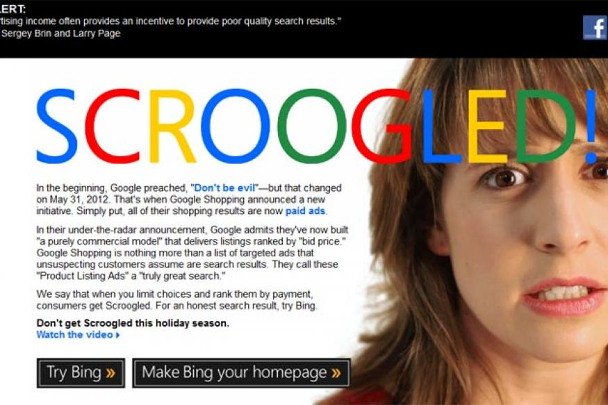 Microsoft ads deride Google as bad place to shop