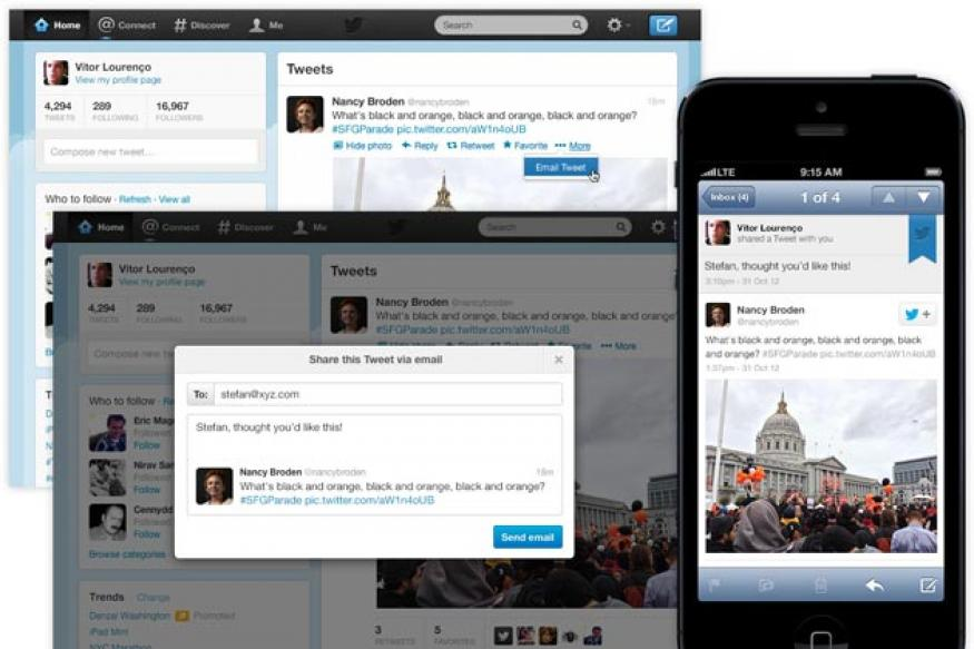 Twitter adds in-stream email sharing feature