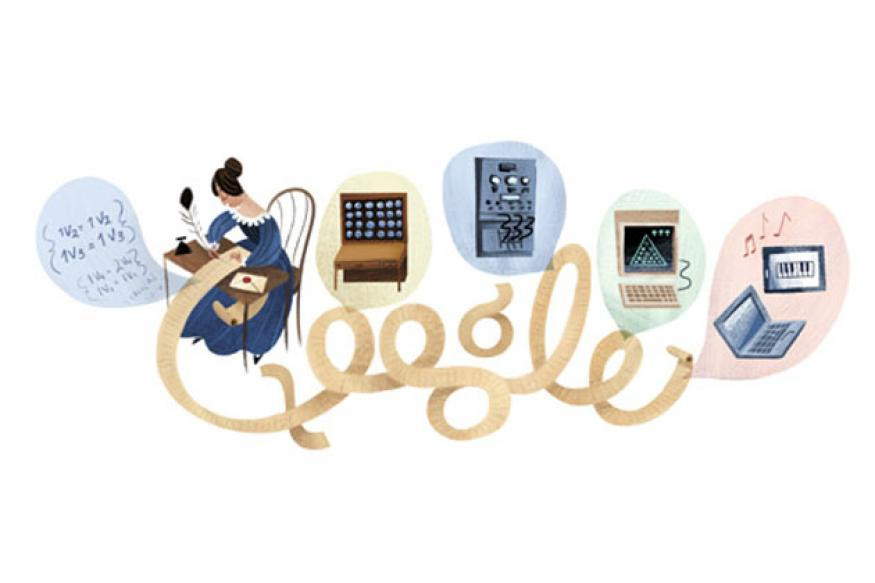 Google doodles Ada Lovelace's 197th birthday
