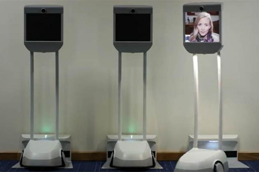 A machine that lets you be present at work, without actually being there
