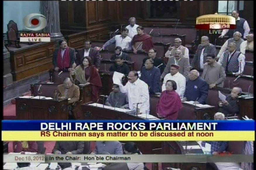 BJP raises Delhi gangrape case in Parliament