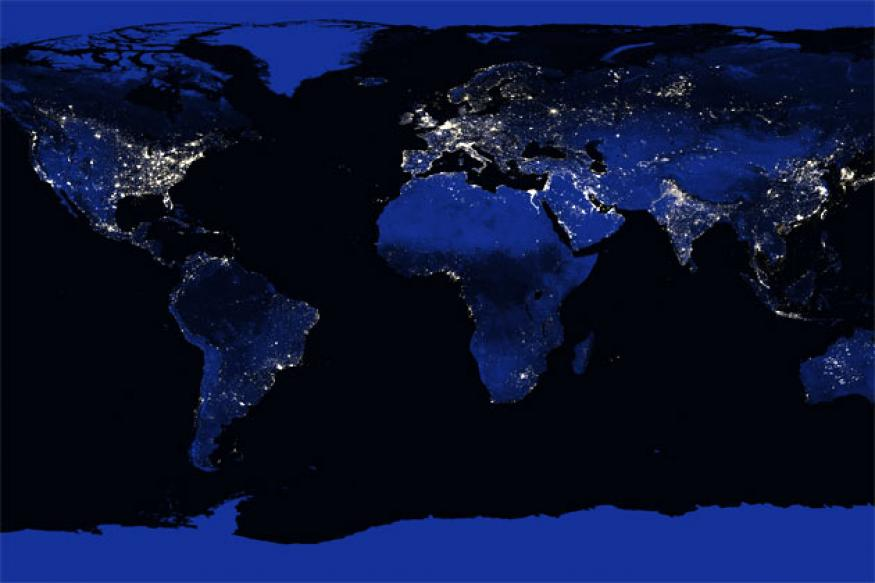 Explore the amazing 1458 megapixel image of the Earth at night